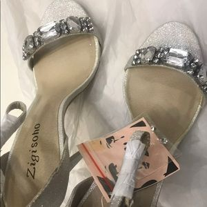 Zigi Soho stilettos open toes crystal high heels